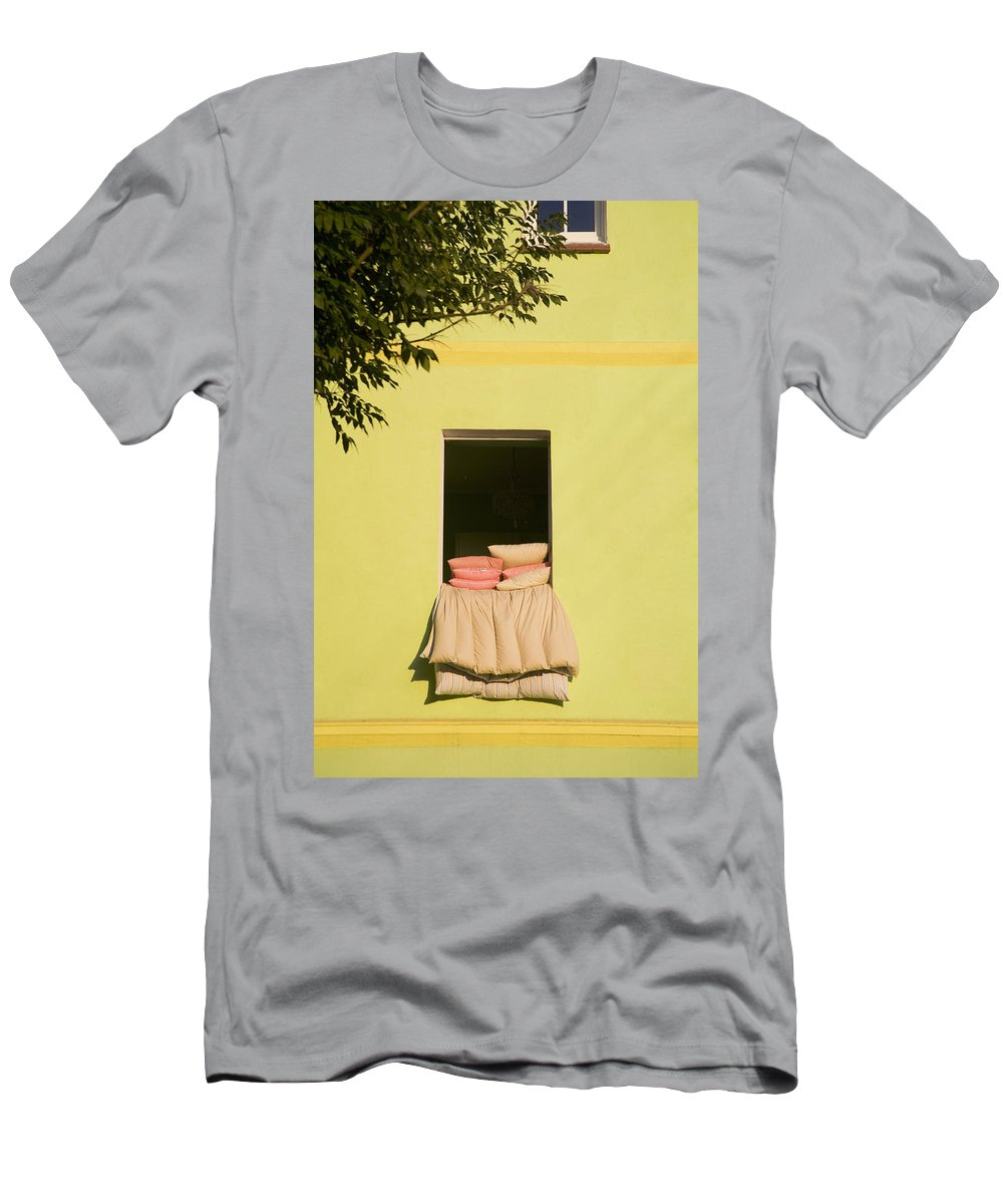 Duvet Men's T-Shirt (Athletic Fit) featuring the photograph Airing Out by Diane Macdonald
