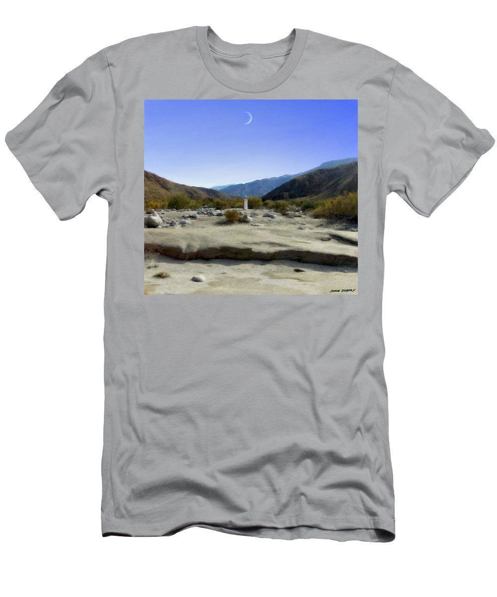 Desert Men's T-Shirt (Athletic Fit) featuring the digital art Alignment by Snake Jagger