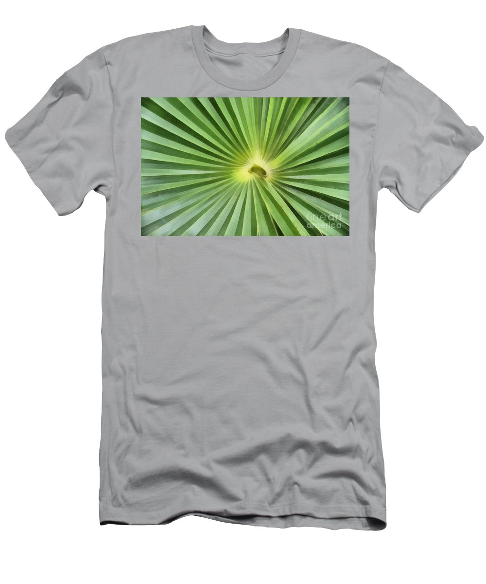 Leaf Men's T-Shirt (Athletic Fit) featuring the digital art All Green by Teresa Zieba