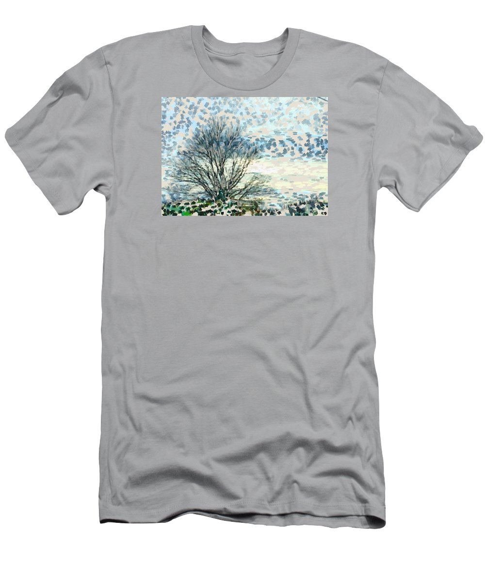 Abstract Men's T-Shirt (Athletic Fit) featuring the photograph All The Leaves Have Gone by Ronda Broatch