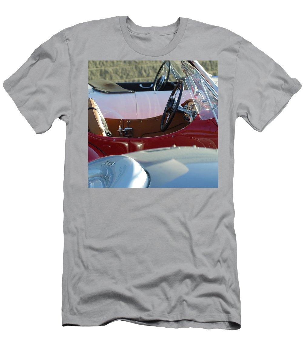 1950 K1 Allard Roadster Men's T-Shirt (Athletic Fit) featuring the photograph Allards K1 K2 K3 - Interiors by Jill Reger