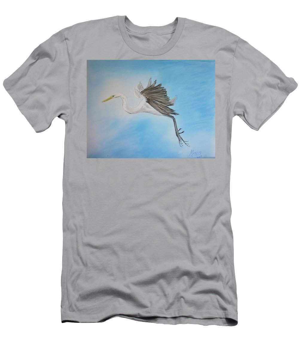 Birds Men's T-Shirt (Athletic Fit) featuring the painting Alone by Maris Sherwood