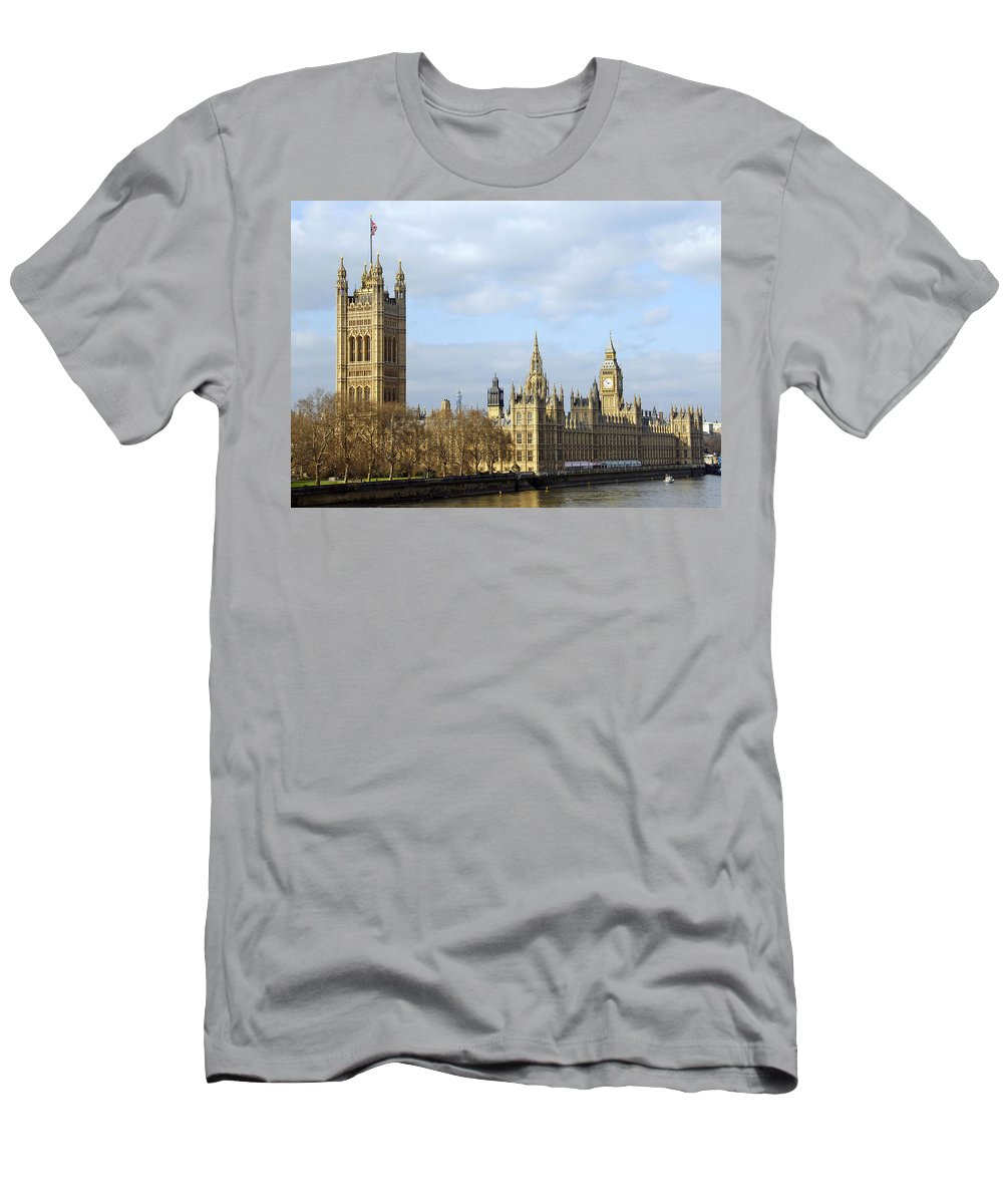 London Men's T-Shirt (Athletic Fit) featuring the photograph Along The Thames by Stephen Anderson