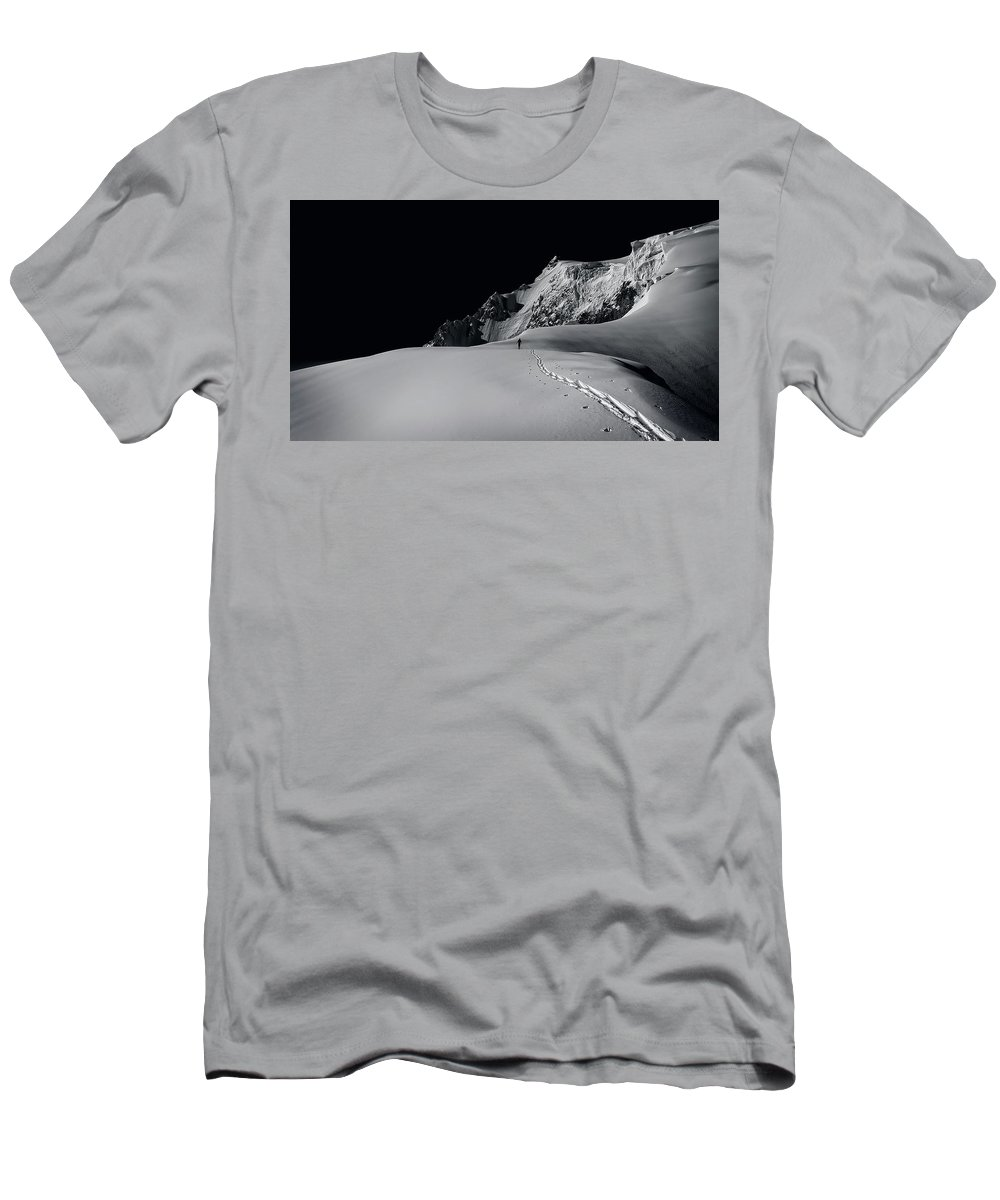 Alpine Men's T-Shirt (Athletic Fit) featuring the photograph Alpine Journey by Simon Steinberger
