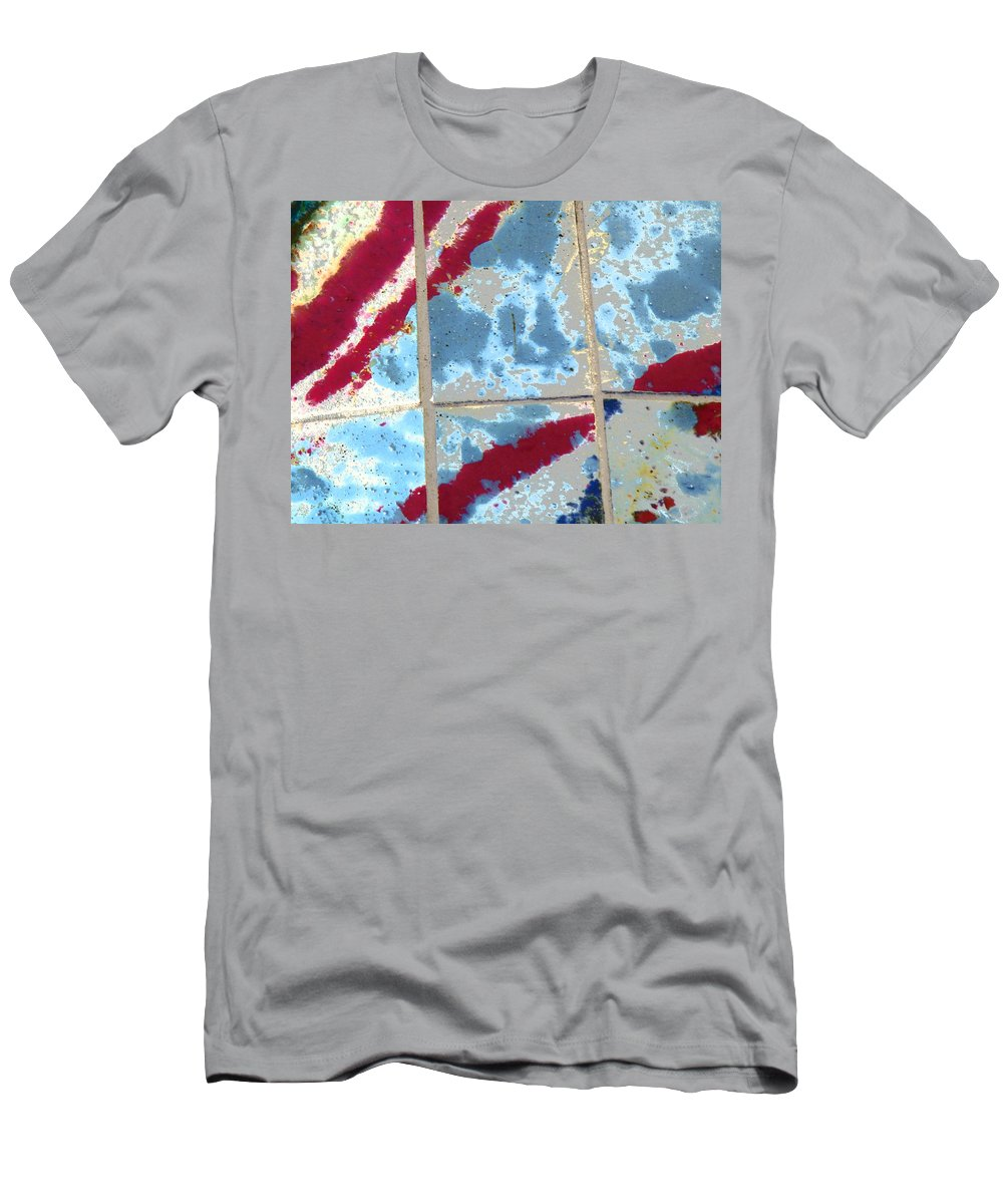 Abstract Men's T-Shirt (Athletic Fit) featuring the photograph America At War by Lenore Senior