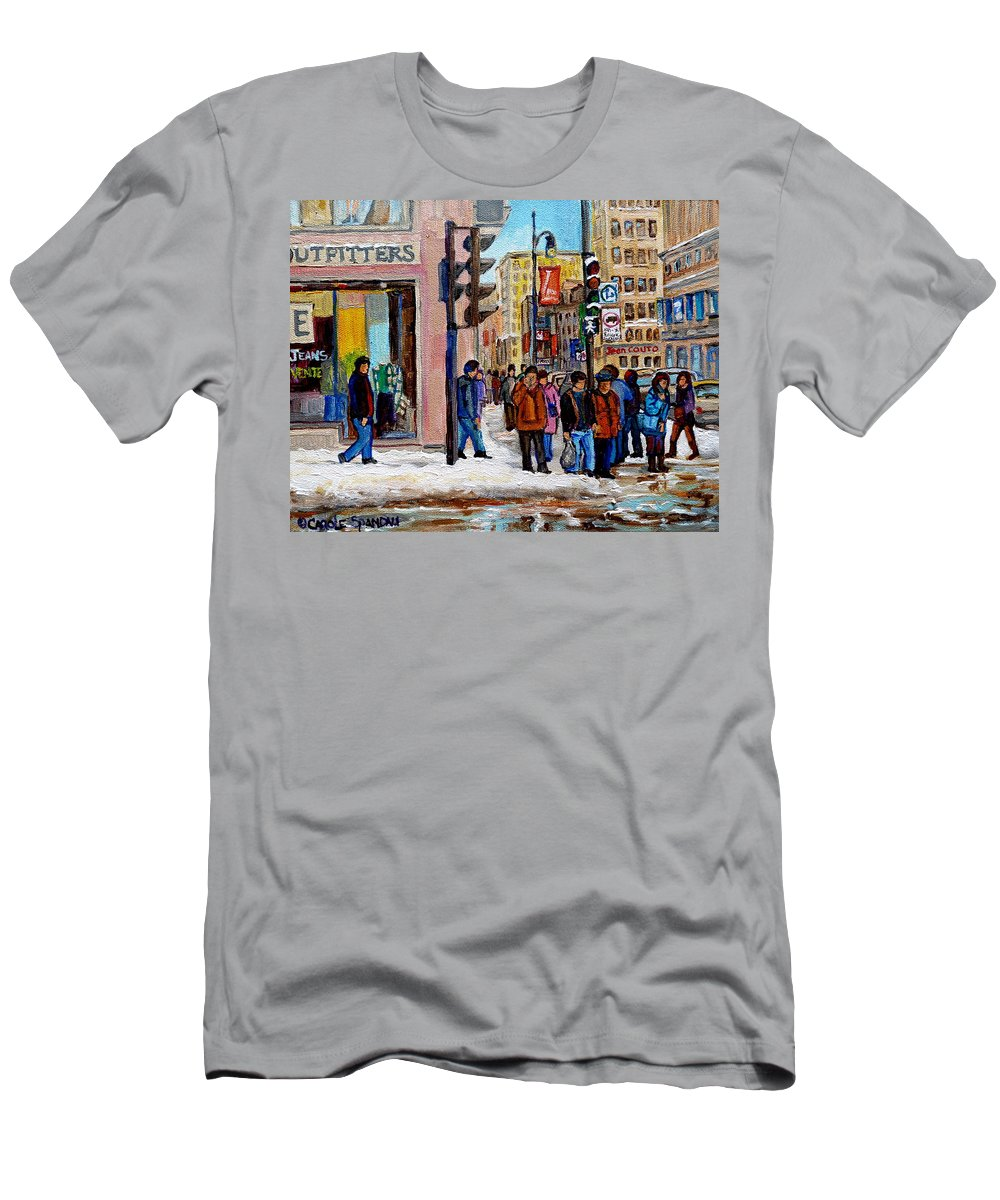 American Eagle Outfitters Men's T-Shirt (Athletic Fit) featuring the painting American Eagle Outfitters by Carole Spandau