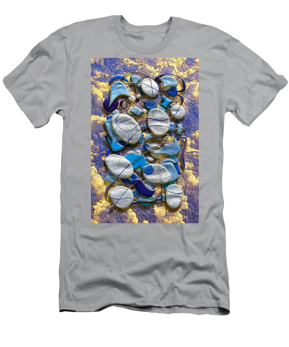 Abstract Men's T-Shirt (Athletic Fit) featuring the digital art An Arrangement Of Stones by Mark Sellers