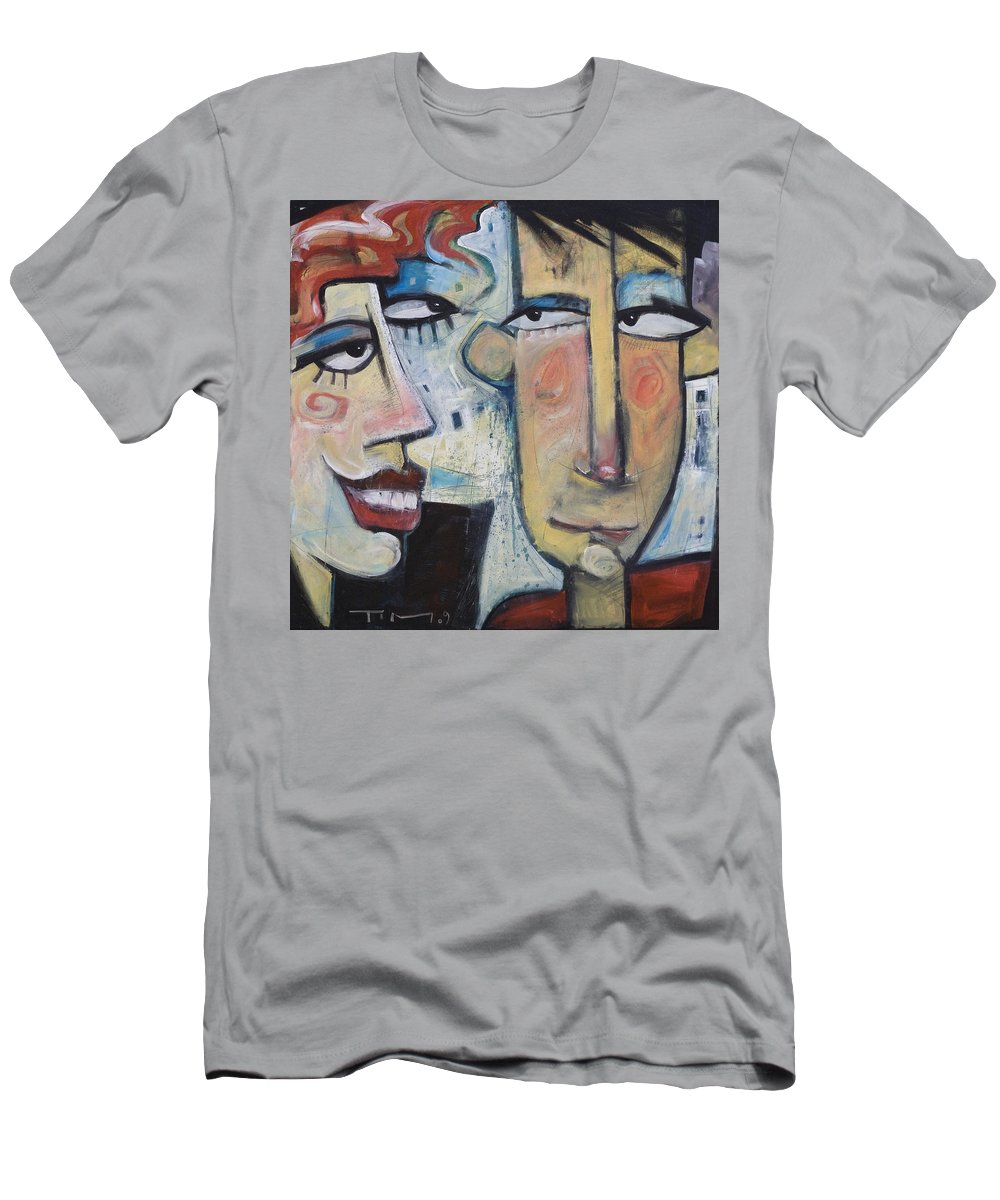 Man Men's T-Shirt (Athletic Fit) featuring the painting An Uncomfortable Attraction by Tim Nyberg