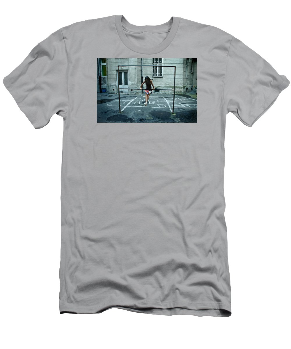 Children Men's T-Shirt (Athletic Fit) featuring the photograph Ana At The Barre by Michael Ziegler
