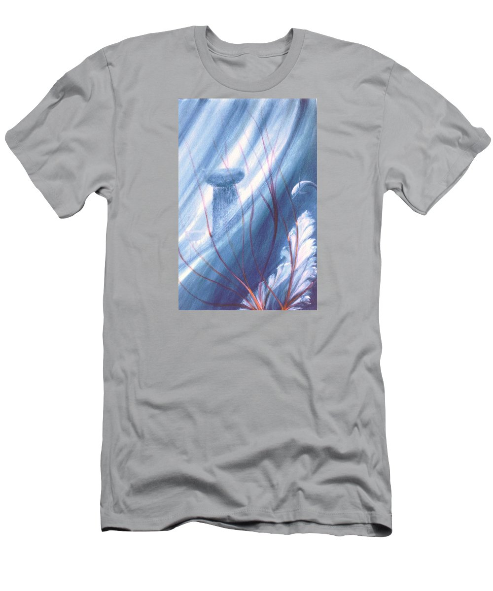 Underwater Seascape Men's T-Shirt (Athletic Fit) featuring the painting Ancient Latte by Dina Holland