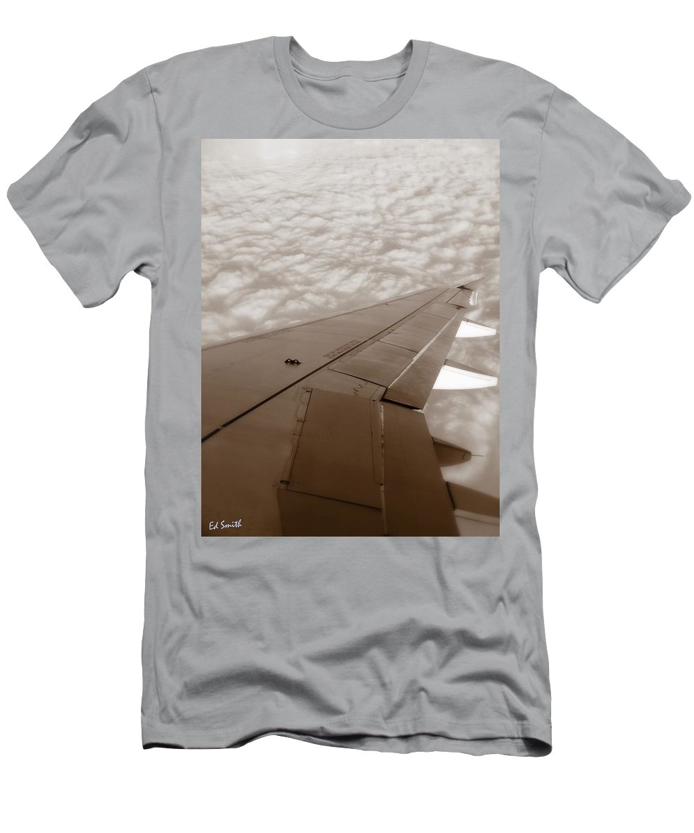 And A Prayer Men's T-Shirt (Athletic Fit) featuring the photograph And A Prayer by Ed Smith