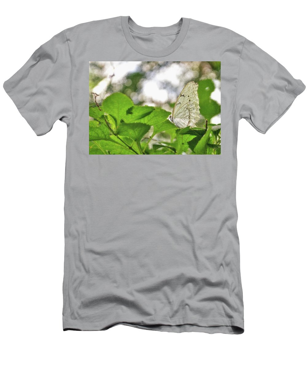 Butterfly Men's T-Shirt (Athletic Fit) featuring the digital art Angel Wings by Anita Hubbard