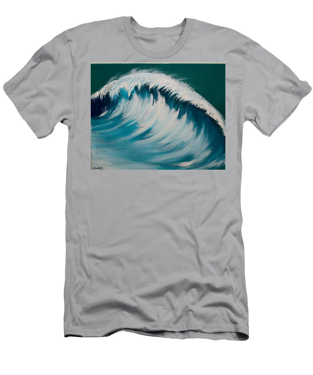 Acrylic Men's T-Shirt (Athletic Fit) featuring the painting Another Wave by James Bender