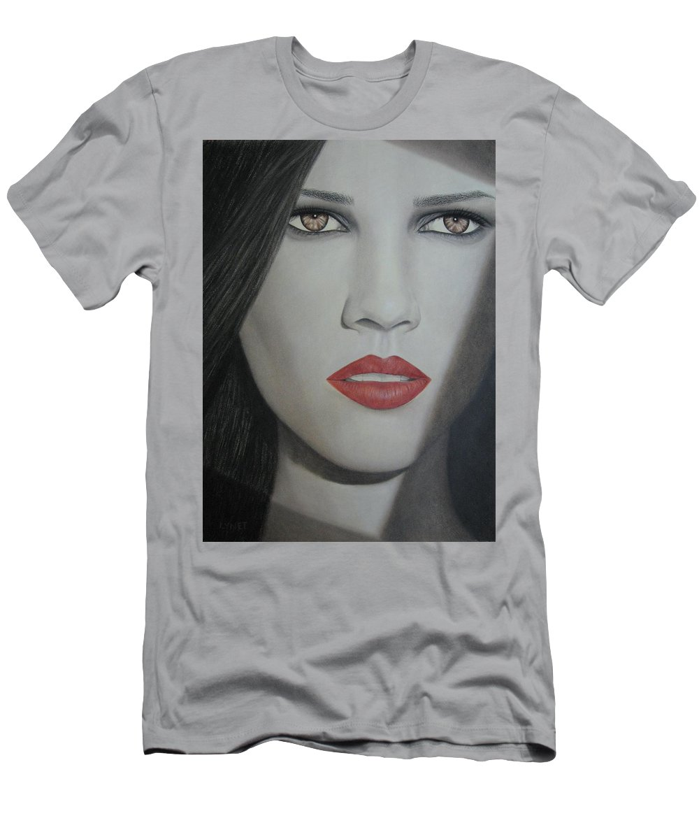 Woman Men's T-Shirt (Athletic Fit) featuring the painting Anticipation by Lynet McDonald
