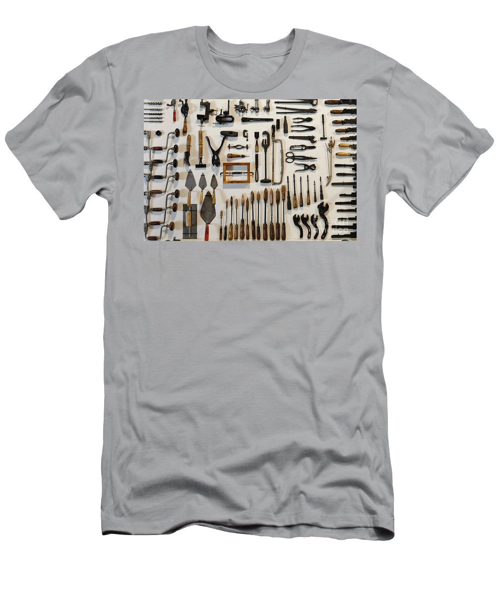 Jobs Men's T-Shirt (Athletic Fit) featuring the photograph Antique Tools by John Greim