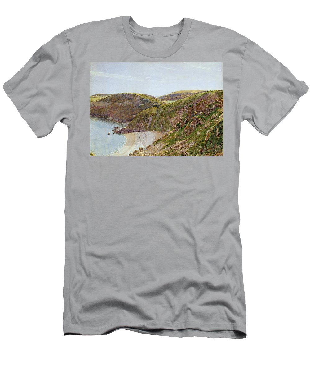Anstey Men's T-Shirt (Athletic Fit) featuring the painting Antsey's Cove South Devon by George Price Boyce