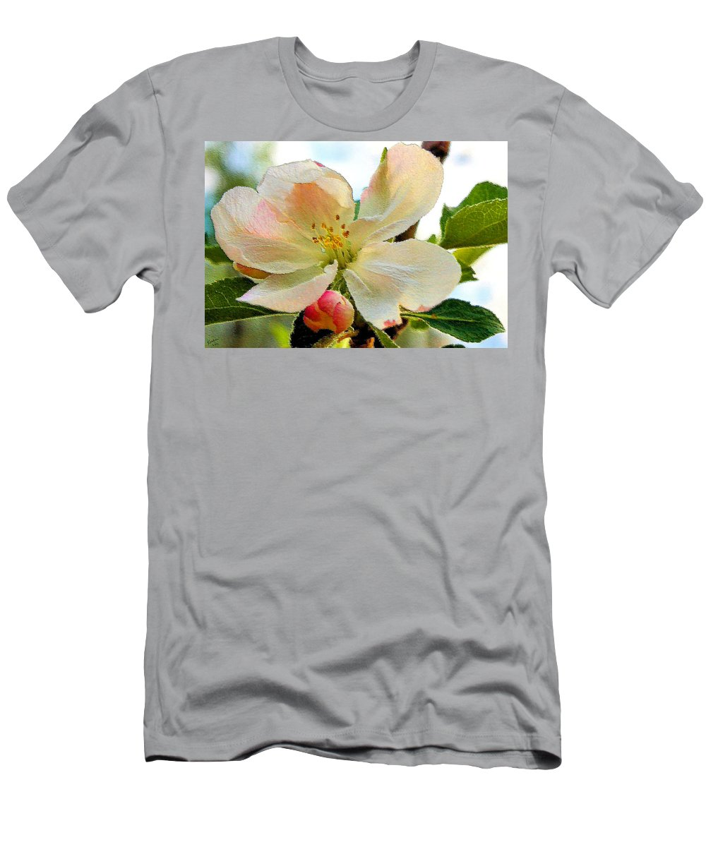 Apple Men's T-Shirt (Athletic Fit) featuring the photograph Apple Blossom by Kristin Elmquist