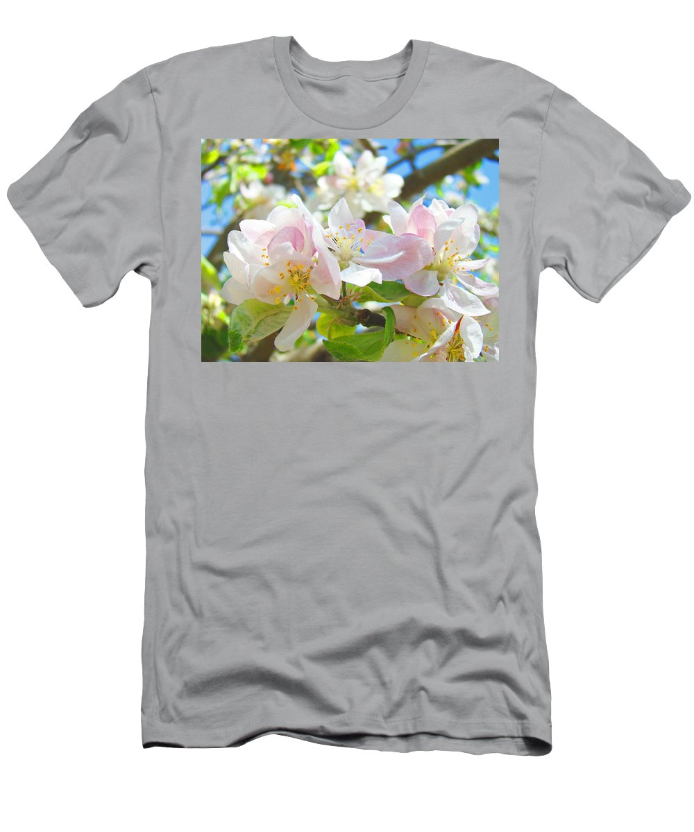 Apple Men's T-Shirt (Athletic Fit) featuring the photograph Apple Blossoms Art Prints Spring Trees Baslee Troutman by Baslee Troutman
