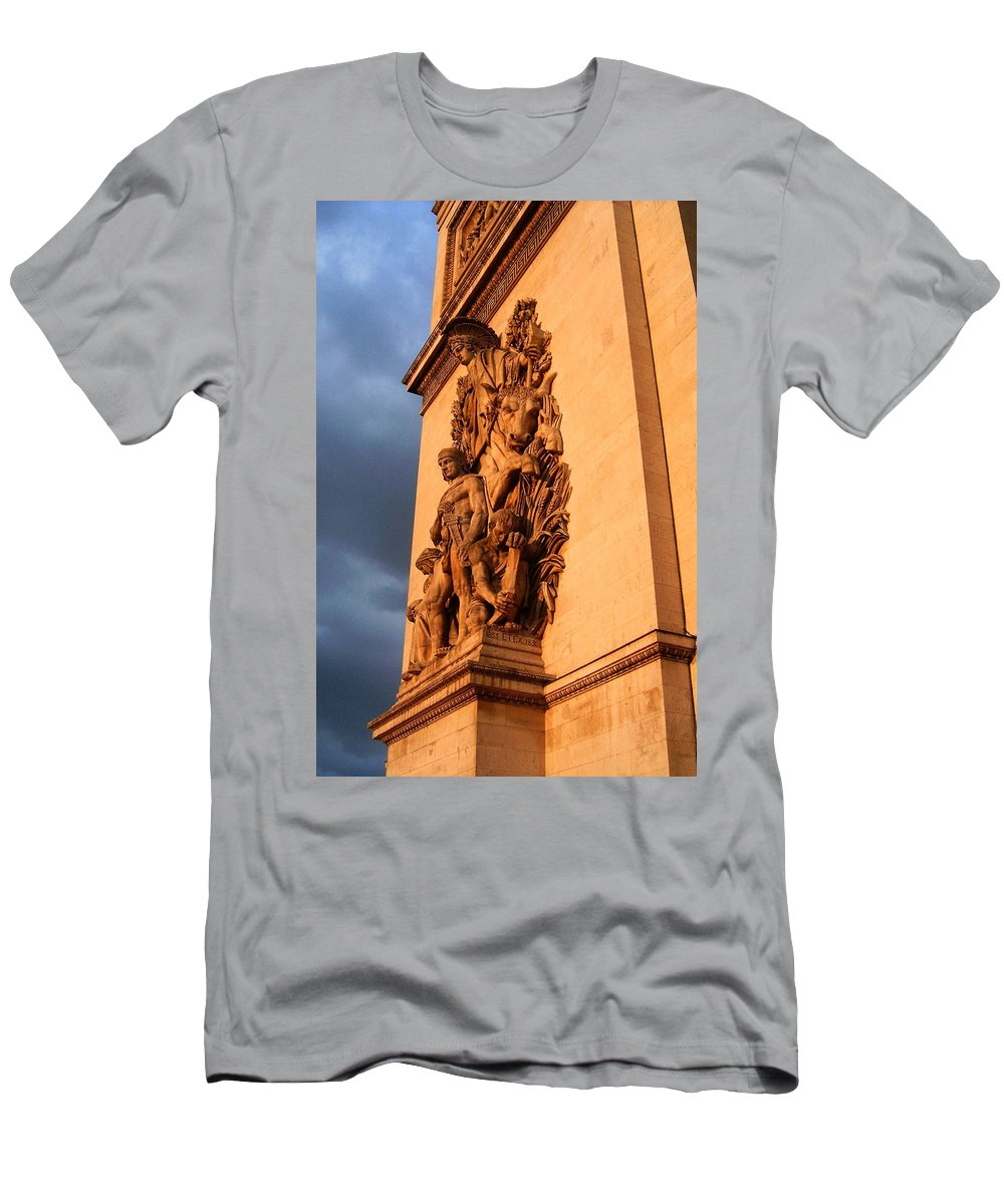Europe Men's T-Shirt (Athletic Fit) featuring the photograph Arc De Triomphe by Juergen Weiss