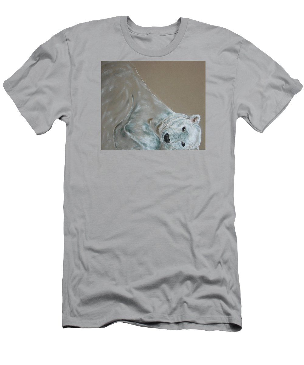 Polar Bear Men's T-Shirt (Athletic Fit) featuring the drawing Arctic Frolic by Cori Solomon