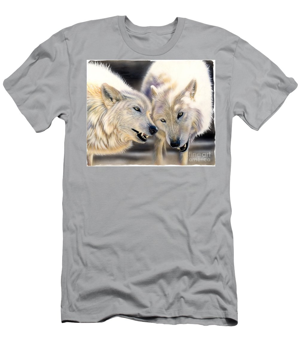 Acrylics Men's T-Shirt (Athletic Fit) featuring the painting Arctic Pair by Sandi Baker