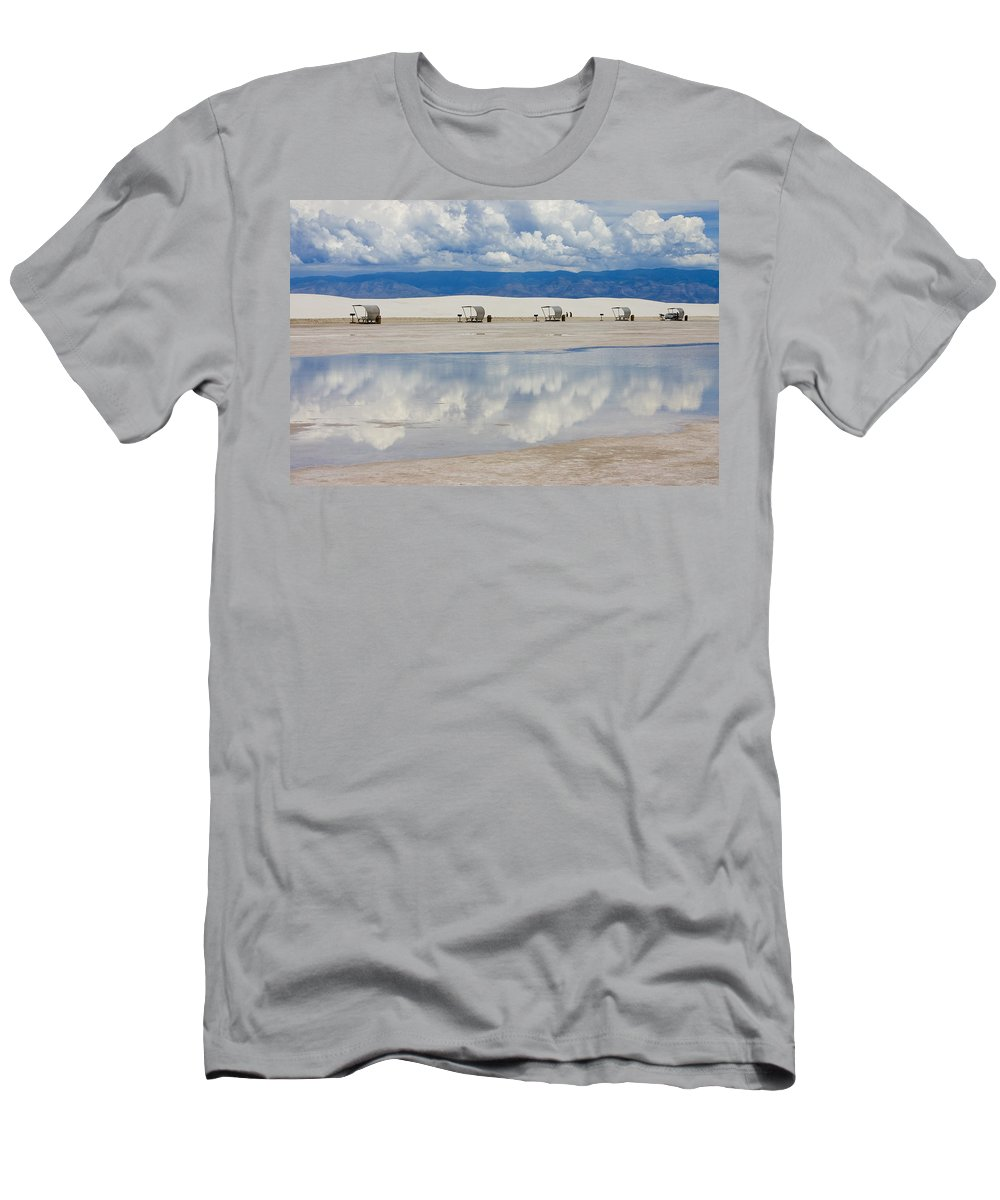 New Mexico Men's T-Shirt (Athletic Fit) featuring the photograph Armageddon Picnic by Skip Hunt