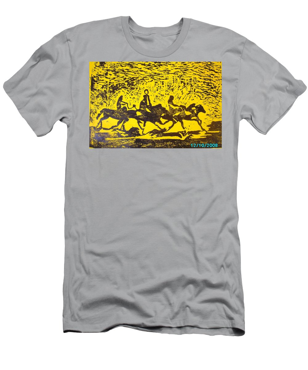 Arrival Men's T-Shirt (Athletic Fit) featuring the mixed media Arrival by Olaoluwa Smith