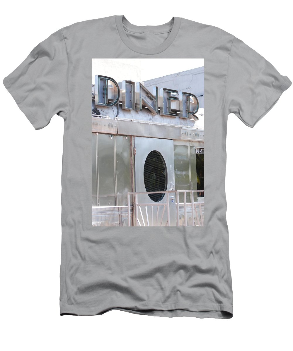 Architecture Men's T-Shirt (Athletic Fit) featuring the photograph Art Deco Diner by Rob Hans