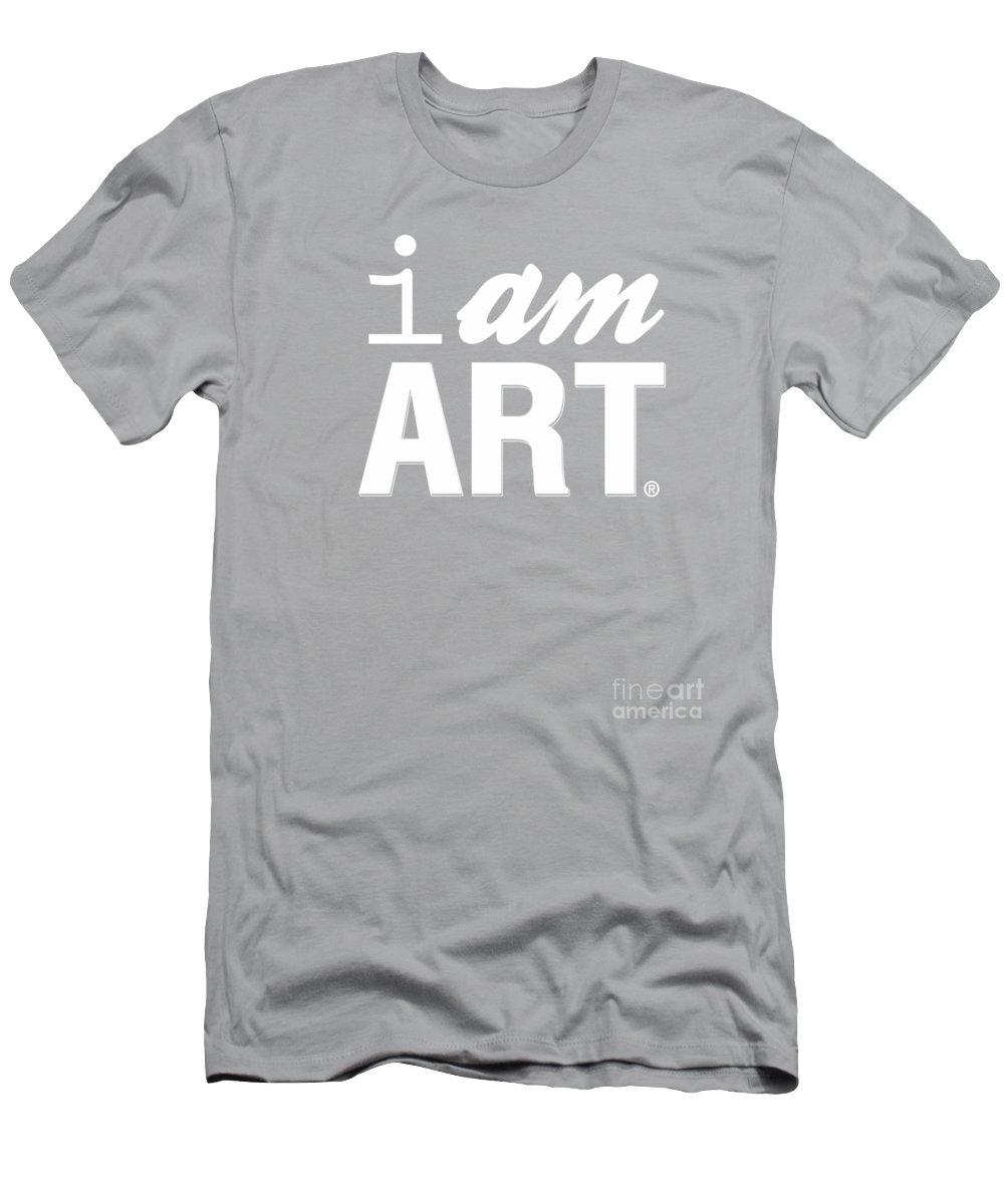 Art T-Shirt featuring the digital art I AM ART- Shirt by Linda Woods