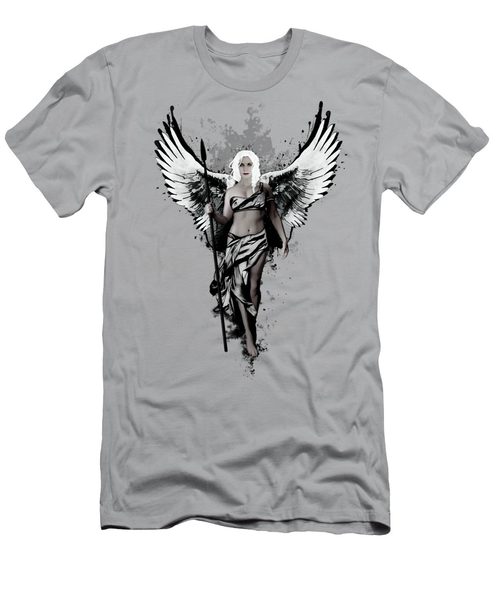 Valkyrie Men's T-Shirt (Athletic Fit) featuring the digital art Valkyrja by Nicklas Gustafsson