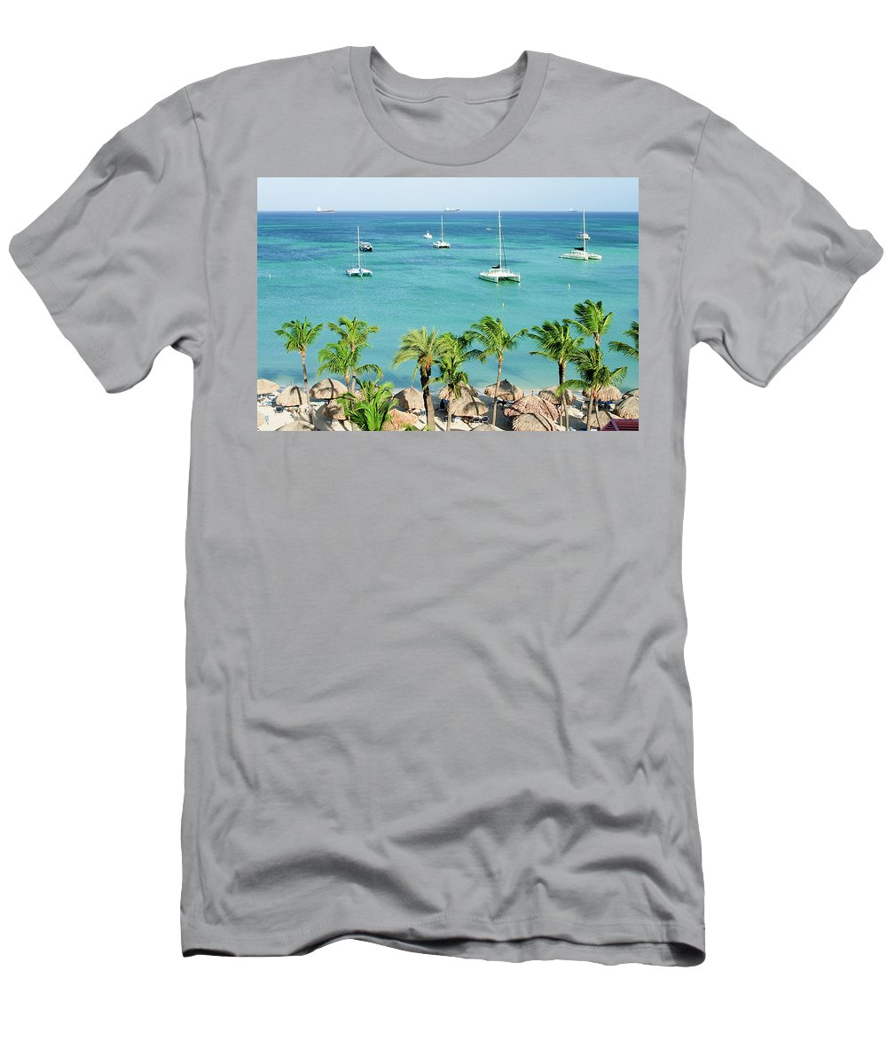 Aruba Men's T-Shirt (Athletic Fit) featuring the photograph Aruba Shore by Michael Clubb