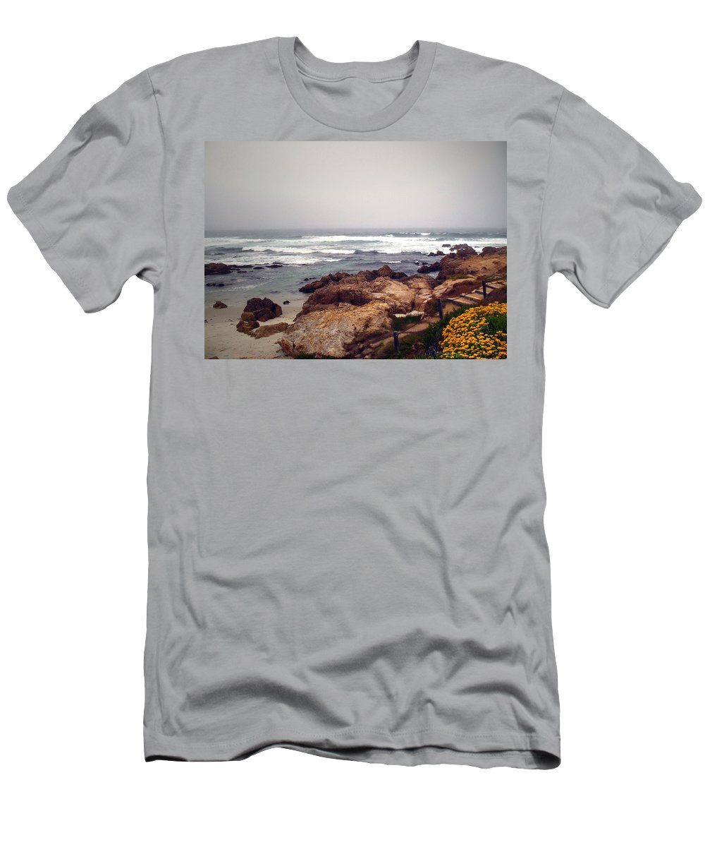 Asilomar Men's T-Shirt (Athletic Fit) featuring the photograph Asilomar Beach Pacific Grove Ca Usa by Joyce Dickens