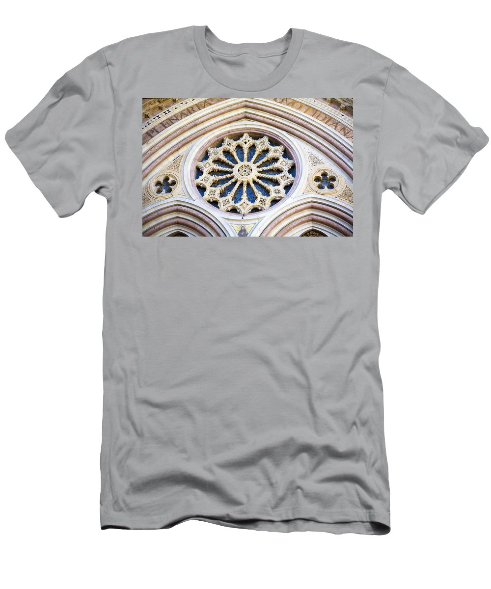 Church Men's T-Shirt (Athletic Fit) featuring the photograph Assisi Plenaria Design by Marilyn Hunt