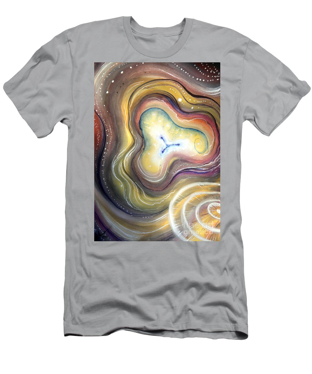 Mind Men's T-Shirt (Athletic Fit) featuring the painting Astral Vision. Mind Concentration by Sofia Metal Queen
