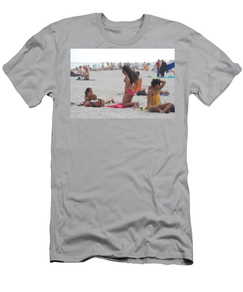 Girls Men's T-Shirt (Athletic Fit) featuring the photograph At The Beach by Rob Hans