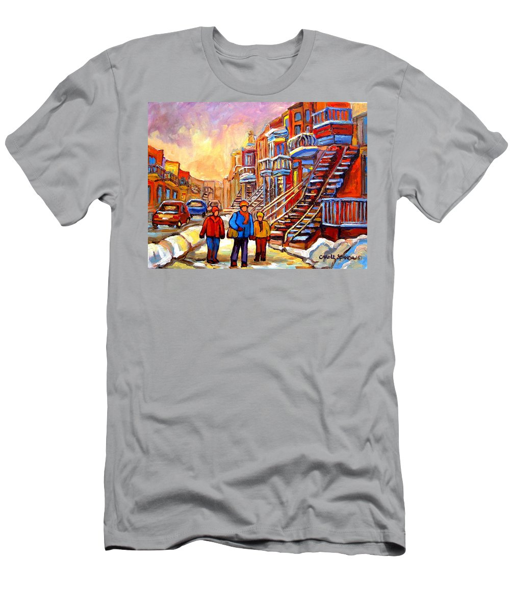 At The End Of The Day Men's T-Shirt (Athletic Fit) featuring the painting At The End Of The Day by Carole Spandau