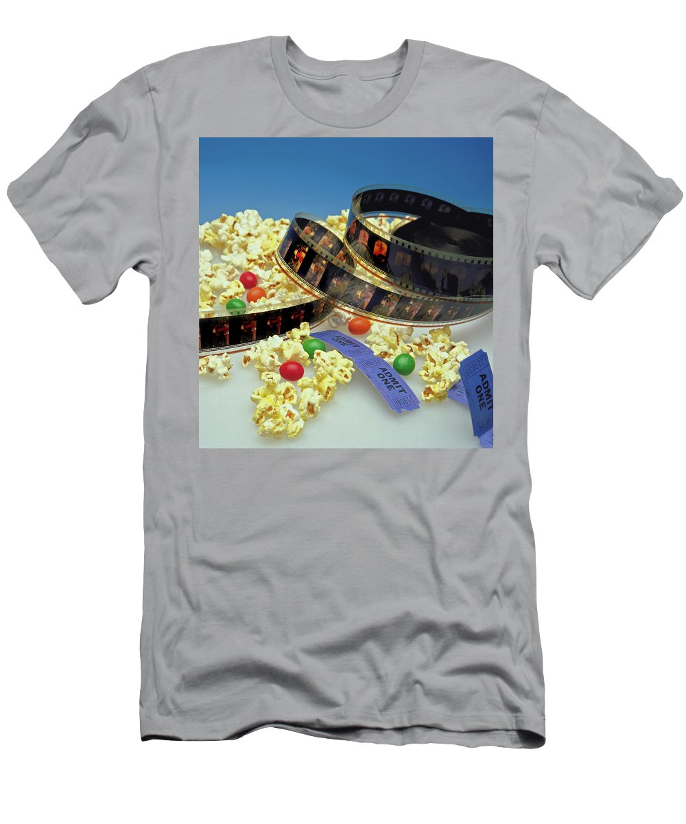 Theater Men's T-Shirt (Athletic Fit) featuring the photograph At The Movies by Marie Hicks