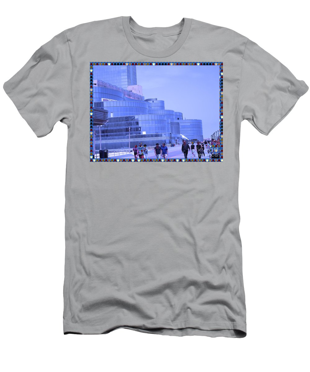 Atalantic Sea Men's T-Shirt (Athletic Fit) featuring the photograph Atalantic America Board Walk And Architecture July 2015 Photography By Navinjoshi At Fineartamerica. by Navin Joshi