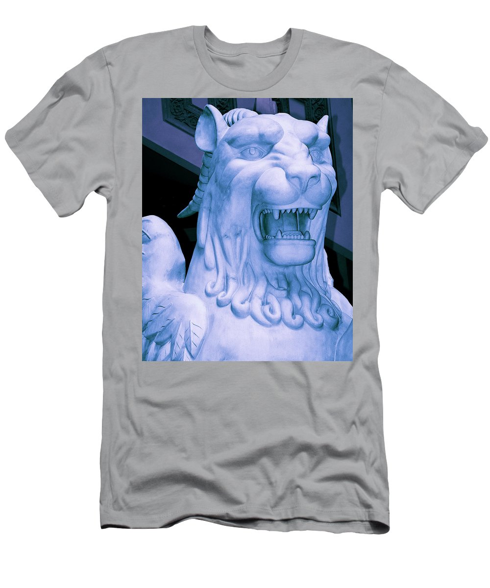 Gryphon Men's T-Shirt (Athletic Fit) featuring the photograph Attack Of The Gryphon by William Dey