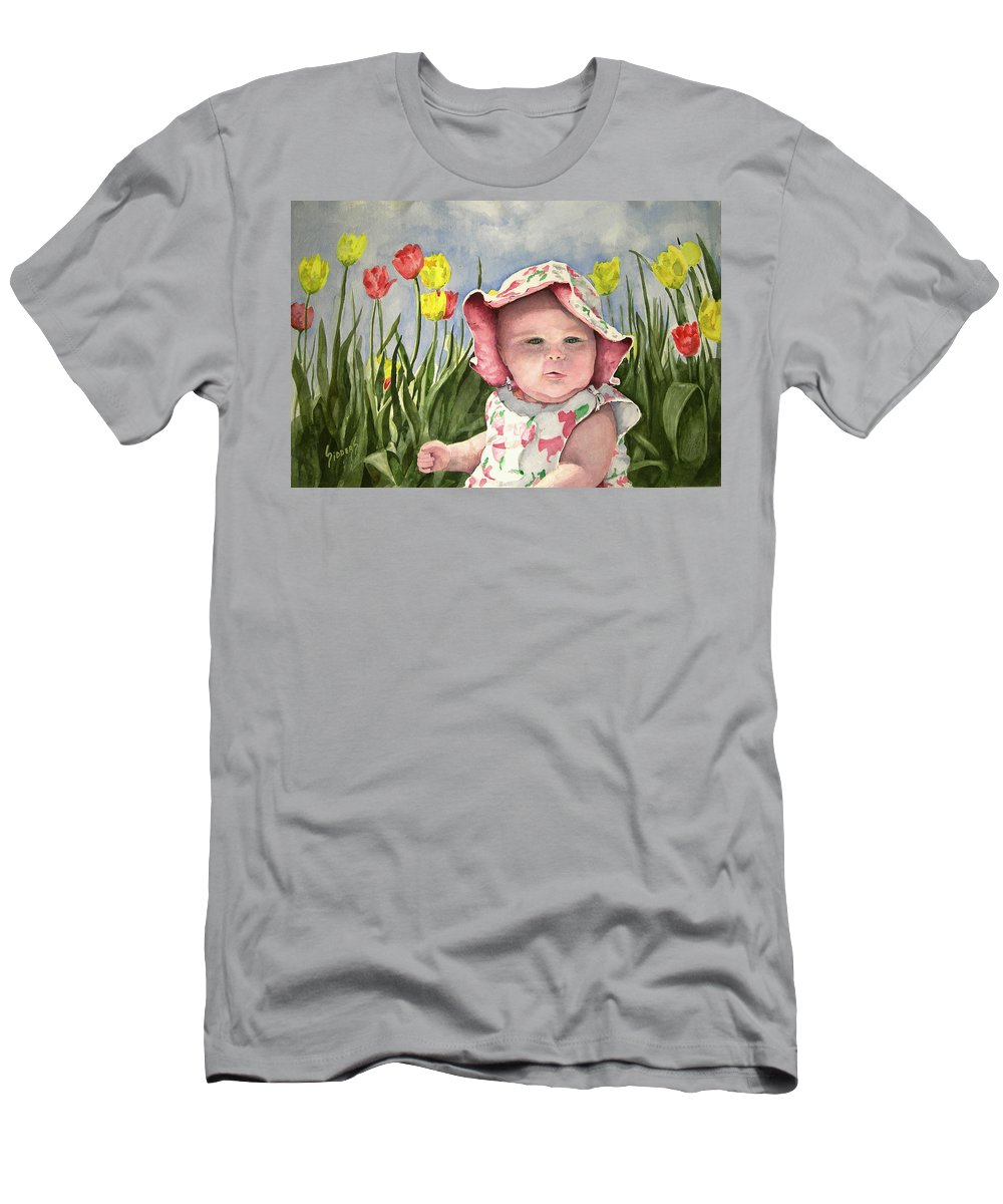 Kids T-Shirt featuring the painting Audrey by Sam Sidders