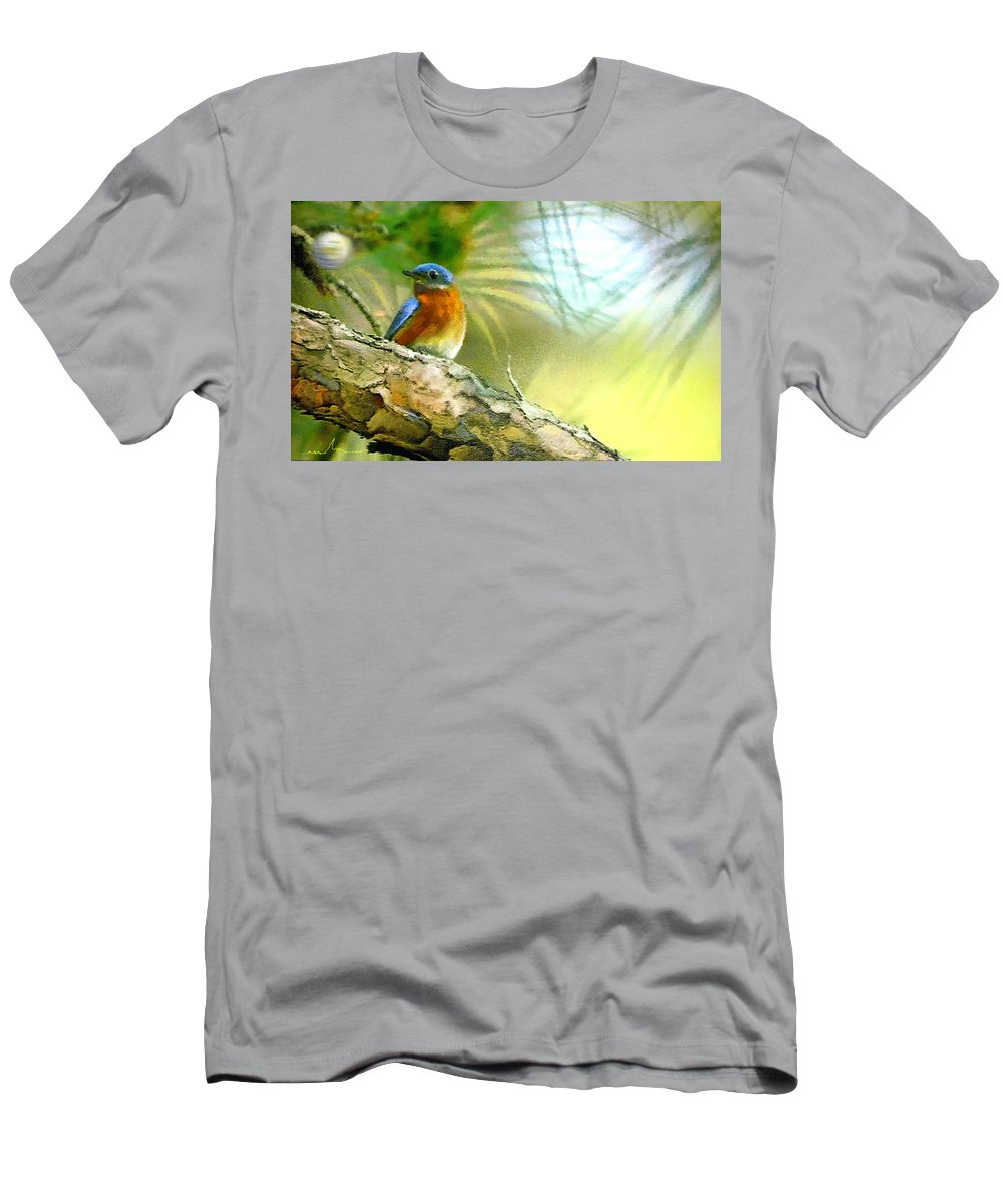 Golf Men's T-Shirt (Athletic Fit) featuring the painting Augusta Masters 2010 05 by Miki De Goodaboom
