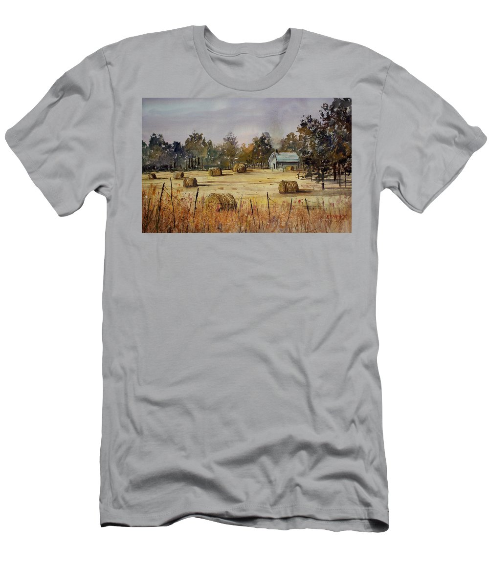 Paintings Men's T-Shirt (Athletic Fit) featuring the painting Autumn Gold by Ryan Radke