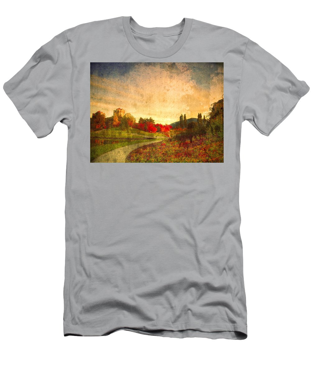 Kelowna Men's T-Shirt (Athletic Fit) featuring the photograph Autumn In The City 2 by Tara Turner