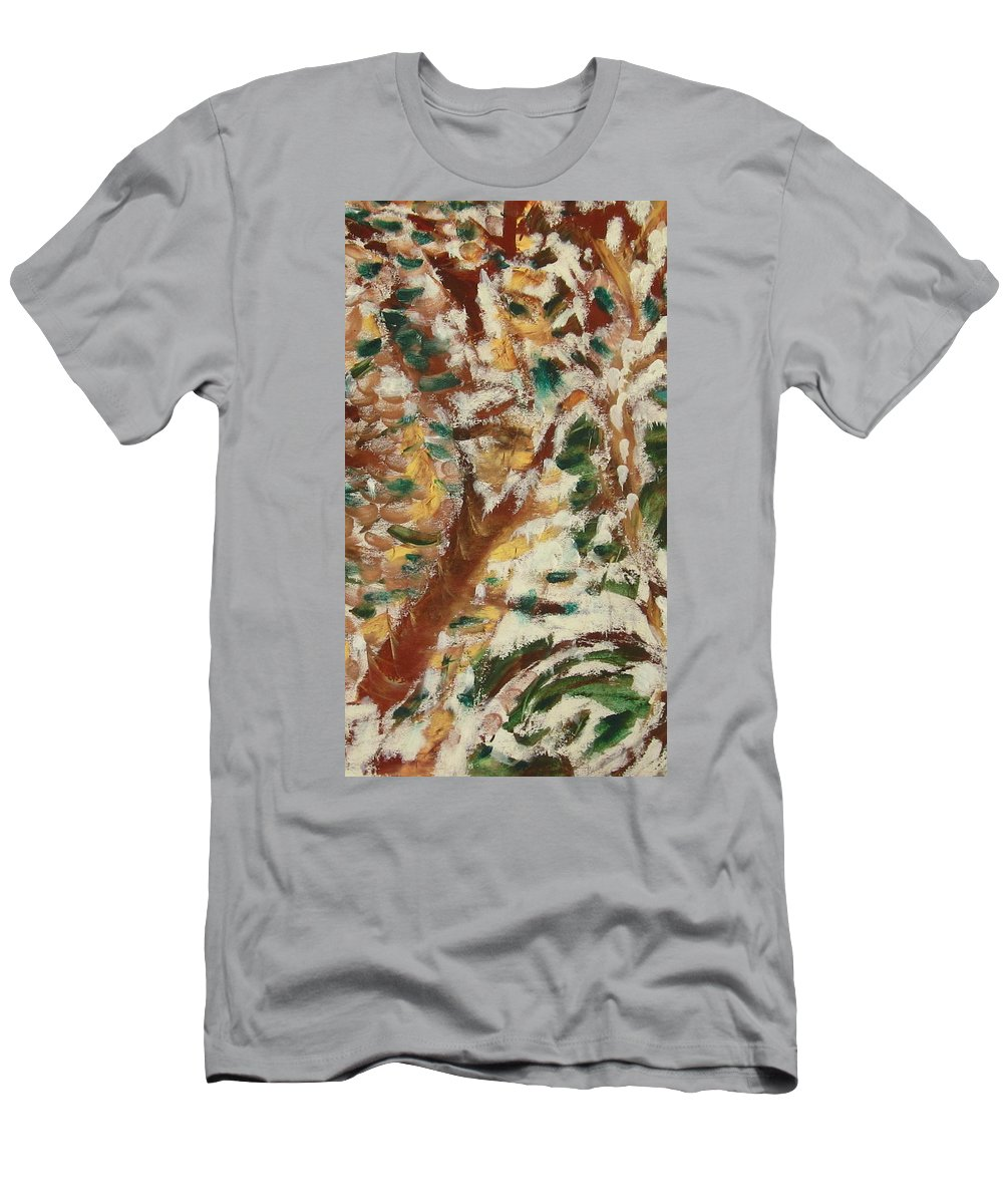 Fall T-Shirt featuring the painting Autumn Snow II by Patricia Cleasby