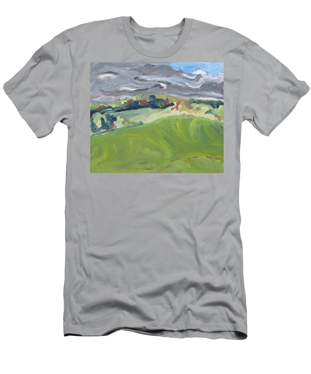 Autumn Men's T-Shirt (Athletic Fit) featuring the painting Autumn Wind by Francois Fournier