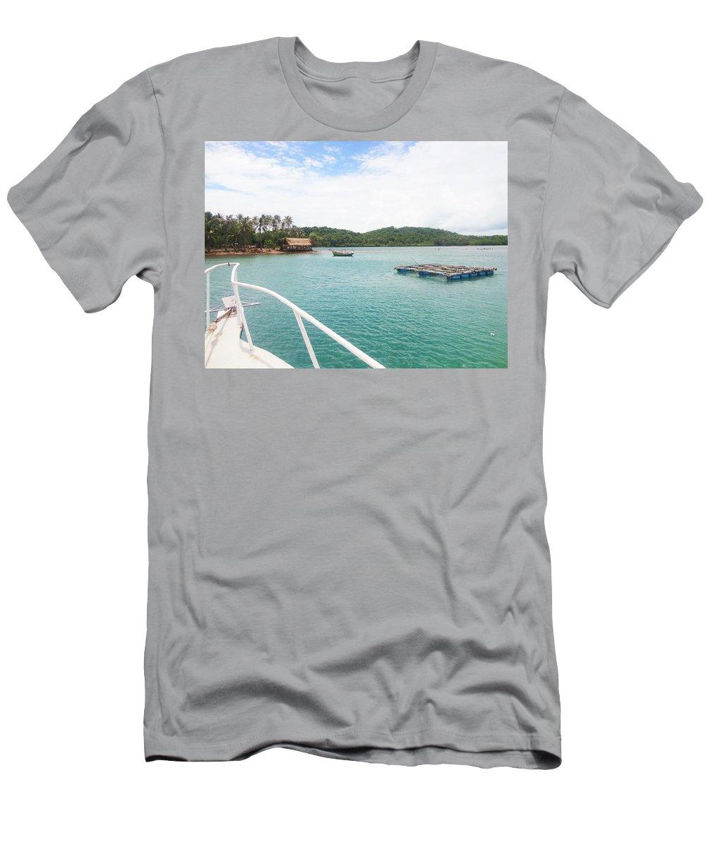 Landscape Men's T-Shirt (Athletic Fit) featuring the photograph Ba Lua Archipelago by Giang Vu