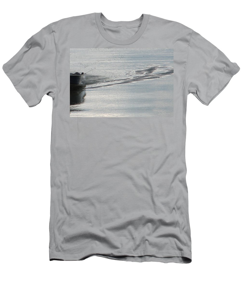 Lake Men's T-Shirt (Athletic Fit) featuring the photograph Back To The Dock by Kelly Mezzapelle