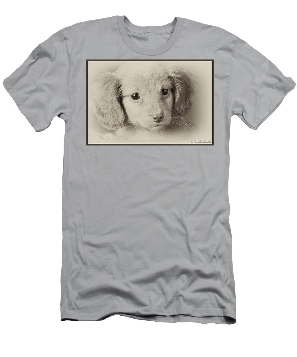 Puppy Men's T-Shirt (Athletic Fit) featuring the photograph Bailey by Sheri Bartoszek