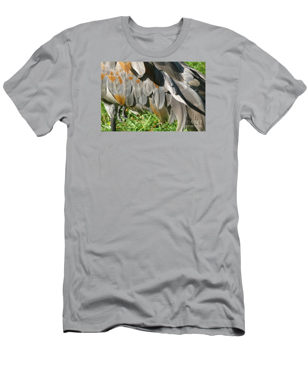 Bird Men's T-Shirt (Athletic Fit) featuring the photograph Balancing Act by Ann Horn