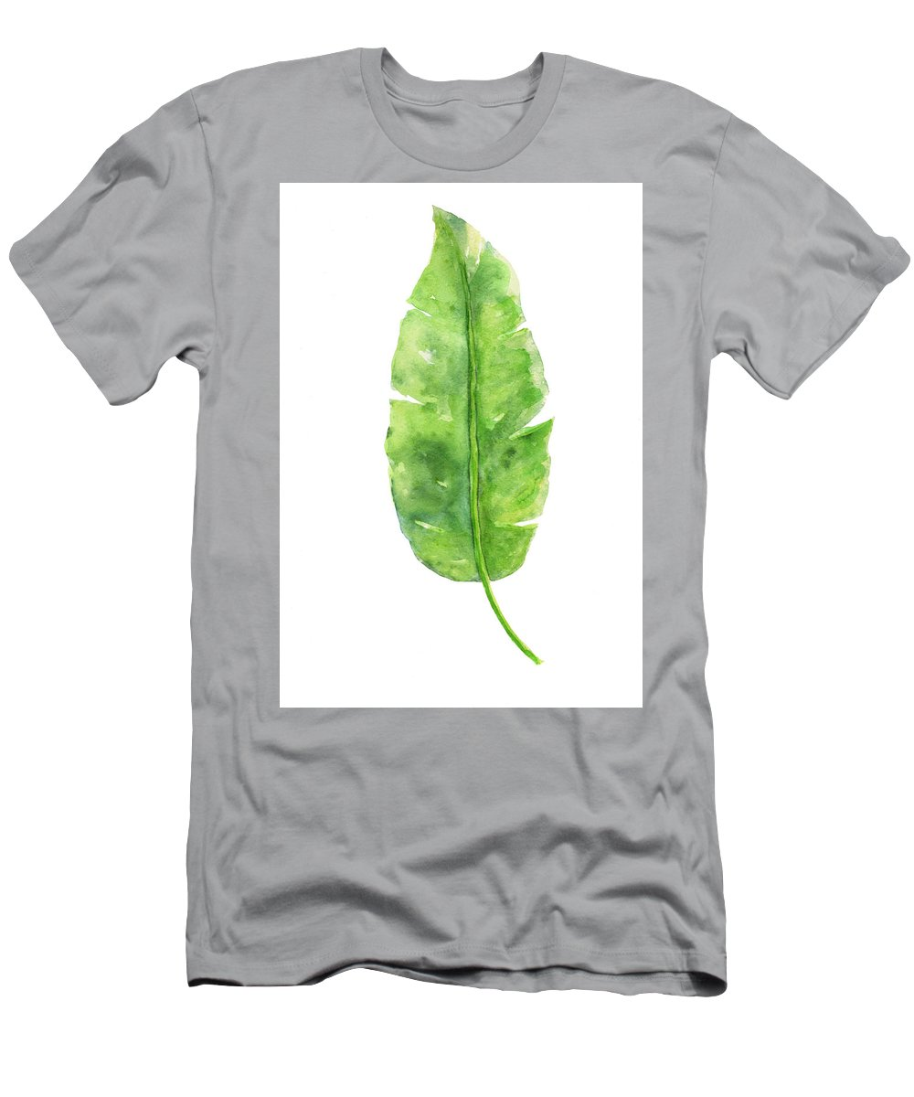 ad482df1f942 Banana Leaf Watercolor Print T-Shirt for Sale by Green Palace